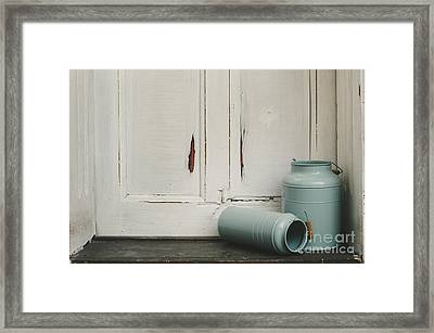 Vintage Milk Canisters. Framed Print by Jelena Jovanovic