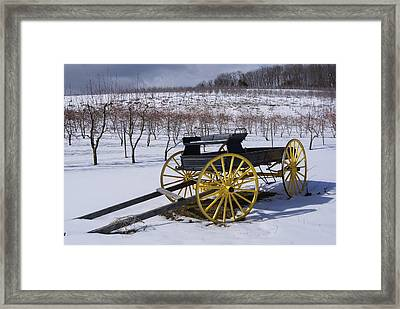 Vintage Milk Wagon Circ 1920s Framed Print by Margie Avellino