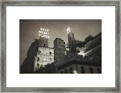 Vintage Mill City Framed Print