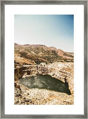 Vintage Mining Pit Framed Print