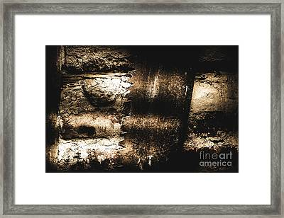 Vintage Mining Saw Framed Print by Jorgo Photography - Wall Art Gallery