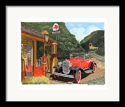 Mobiles Drawings Framed Prints
