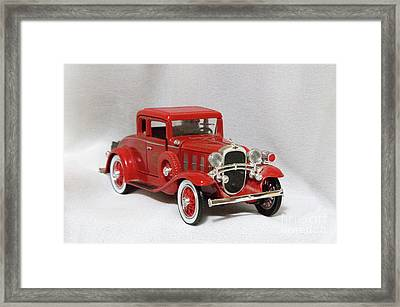 Framed Print featuring the photograph Vintage Model Fire Chiefcar by Linda Phelps