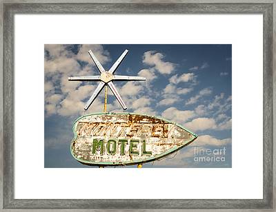 Vintage Monterey Motel Neon Sign Framed Print by Imagery by Charly