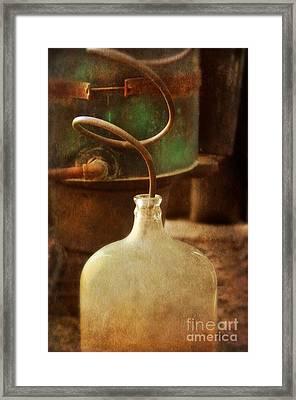 Vintage Moonshine Still Framed Print by Jill Battaglia