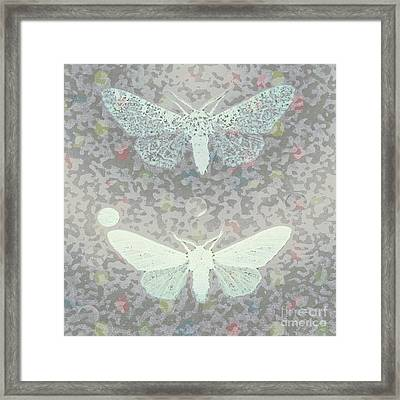 Vintage Moth  Framed Print by Rebecca Lemke