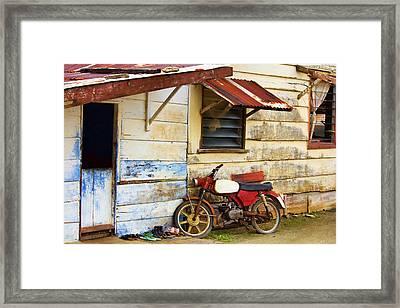 Vintage Motorbike Framed Print