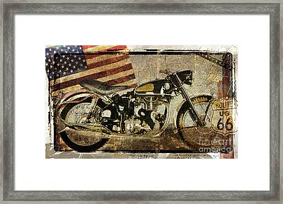 Vintage Motorcycle Road Demon Framed Print by Mindy Sommers