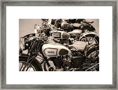 Vintage Motorcycles Framed Print