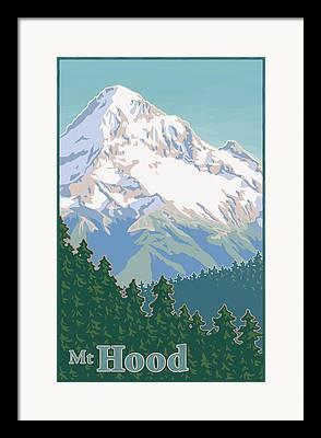 Cascade Mountains Digital Art Framed Prints