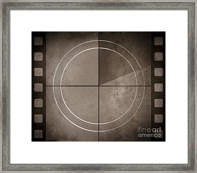 Vintage Movie Background With Film Strip Boarder Framed Print by Jorgo Photography - Wall Art Gallery