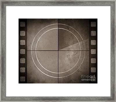 Vintage Movie Background With Film Strip Boarder Framed Print