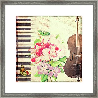 Vintage Music Framed Print