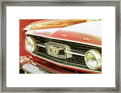 Vintage Mustang Framed Print by Caitlyn Grasso