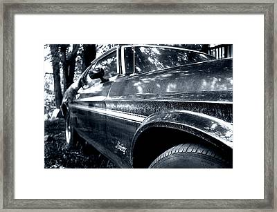 Vintage Mustang Framed Print by Heather S Huston
