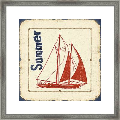 Vintage Nautical-jp2752 Framed Print by Jean Plout