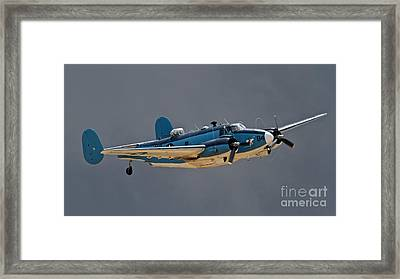 Vintage Naval Twin With Proptip Vortices 2011 Chino Planes Of Fame Air Show Framed Print by Gus McCrea