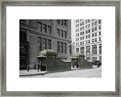 Vintage New York 3 Framed Print