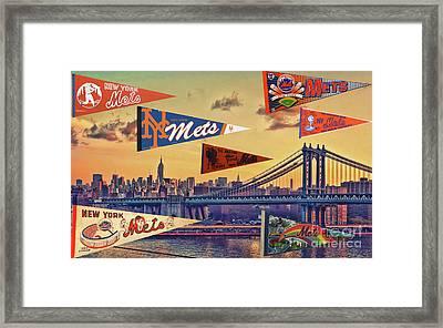 Vintage New York Mets Framed Print