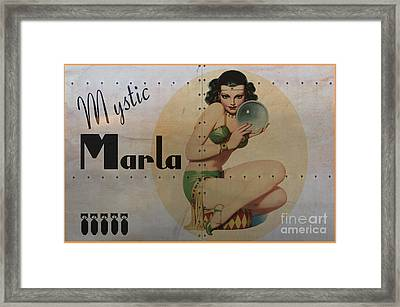 Vintage Nose Art Mystic Marla Framed Print by Cinema Photography