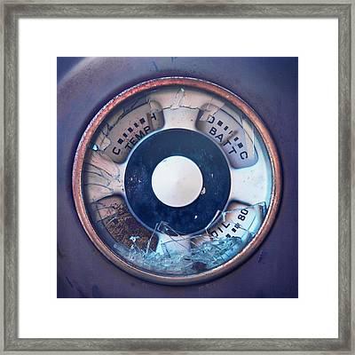 Vintage Oil Indicator Framed Print by Priska Wettstein