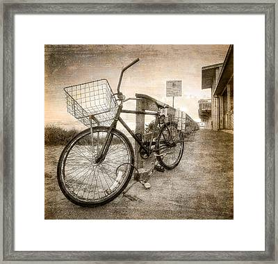 Vintage Ol' Bike Framed Print by Debra and Dave Vanderlaan