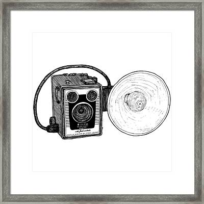 Vintage Old Brownie Camera Framed Print by Karl Addison