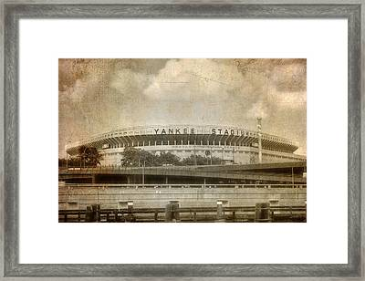 Vintage Old Yankee Stadium Framed Print