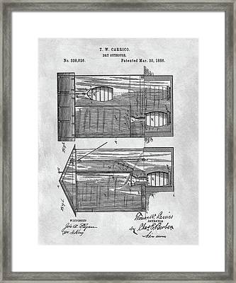Vintage Outhouse Patent Framed Print