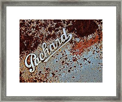 Vintage Packard Emblem Framed Print by Tony Grider