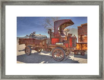 Vintage Packard Truck Framed Print by Donna Kennedy