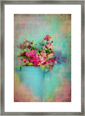 Flowers From A Cottage Garden Framed Print