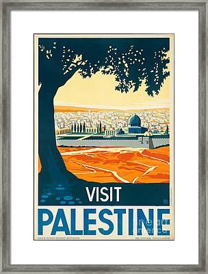 Vintage Palestine Travel Poster Framed Print