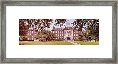 Vintage Panorama Of The Fondren Science Building At Southern Methodist University - Dallas Texas Framed Print