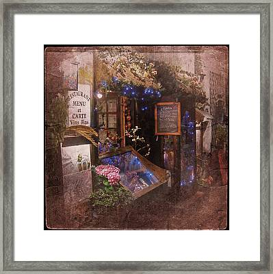 Vintage Paris 1 Framed Print by Richard Cummings