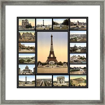 Vintage Paris 1900 Framed Print by Andrew Fare