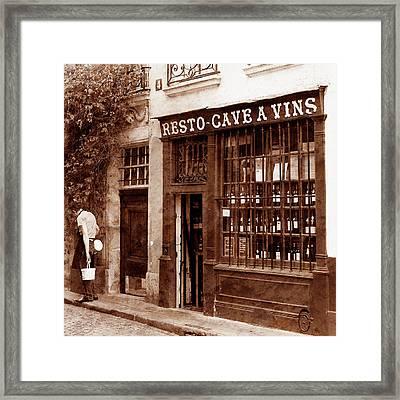 Vintage Paris 3 Framed Print