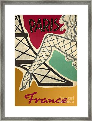 Vintage Paris Cabaret Framed Print