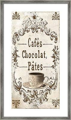 Vintage Paris Cafe Sign Framed Print by Mindy Sommers
