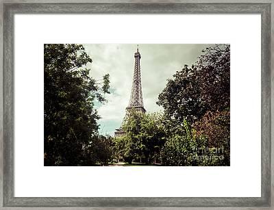 Vintage Paris Landscape Framed Print
