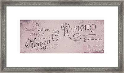 Vintage Paris Pink Sign Framed Print by Mindy Sommers