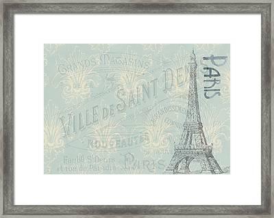 Vintage Paris Poster Framed Print
