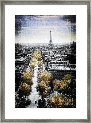Vintage Paris Framed Print