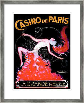 Vintage Paris Showgirl Framed Print by Mindy Sommers