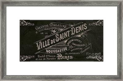 Vintage Paris Sign Framed Print by Mindy Sommers