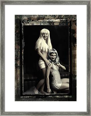 Vintage Party Girls Framed Print by Clayton Bruster