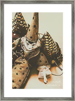 Vintage Party Puppet Framed Print