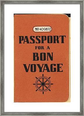 Vintage Passport Framed Print