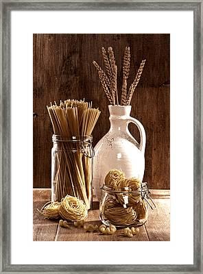 Vintage Pasta  Framed Print by Amanda Elwell