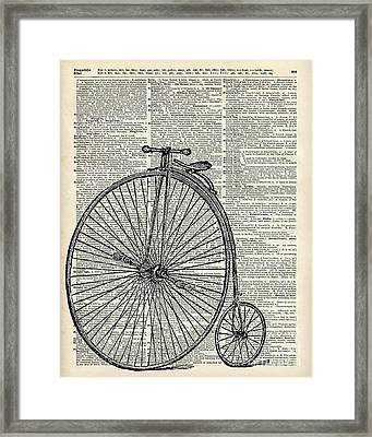 Vintage Penny Farthing Bicycle Framed Print by Jacob Kuch